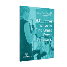 9 Creative Ways to Find Great Event Speakers - eBook image