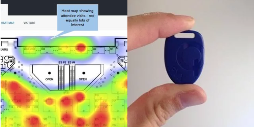 Heat-map-beacon-RFID-attendee-tracking
