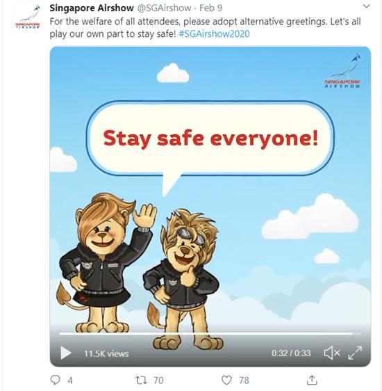 Singapore Airshow Twitter