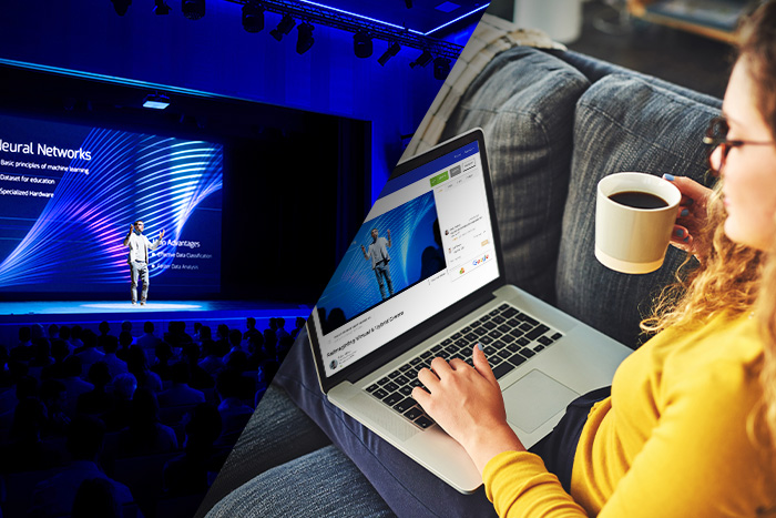 Best of both worlds - add a virtual element to your in-person events for remote attendees.